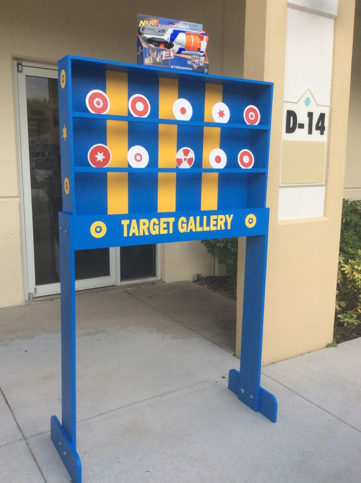 Target Gallery Carnival Game, Party rental game, Fundraiser Game Tailgating Game,Lawn Games Nerf Shooting Gallery School Festival VBS Church by TravelingElephants on Etsy https://www.etsy.com/listing/461270778/target-gallery-carnival-game-party