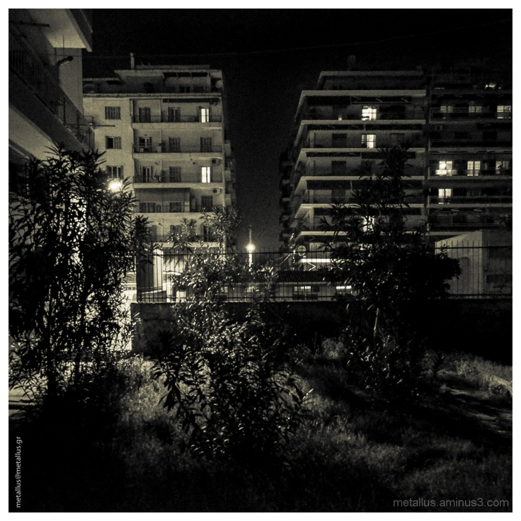 """Night Urban Garden"" Urban nightshot at Thessaloniki, Greece"