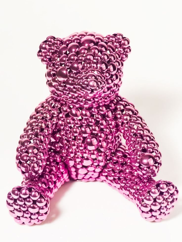 The Public House of Art | Valay Shende - Magenta Teddy Bear  Modern Sculpture | Teddy Bear  #arttodisruptnotbankrupt