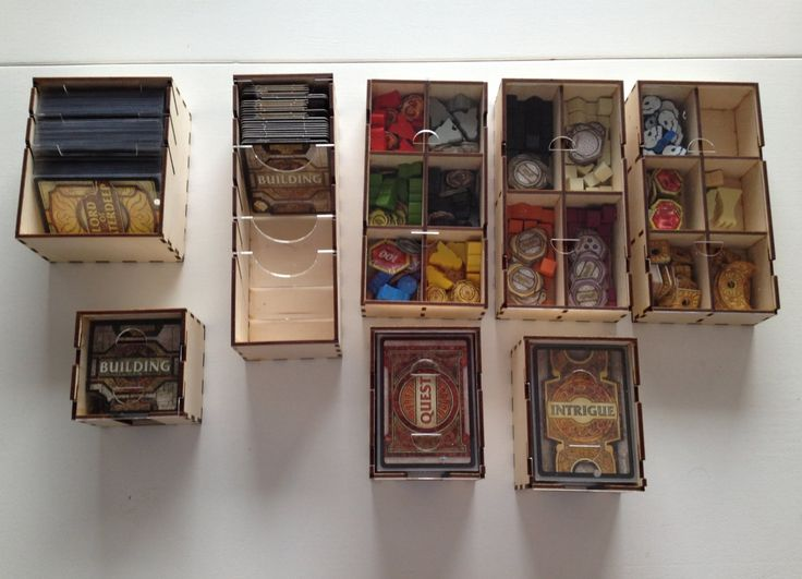 Lords of waterdeep board game wood insert to store all for Board game storage solutions