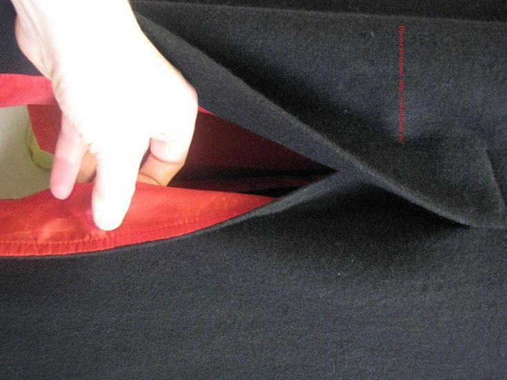 уроки шитья, обработка шлицы подкладкой