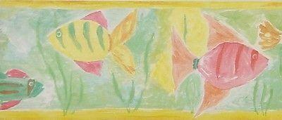 Crown Painted Fish Wallpaper Border - 72970