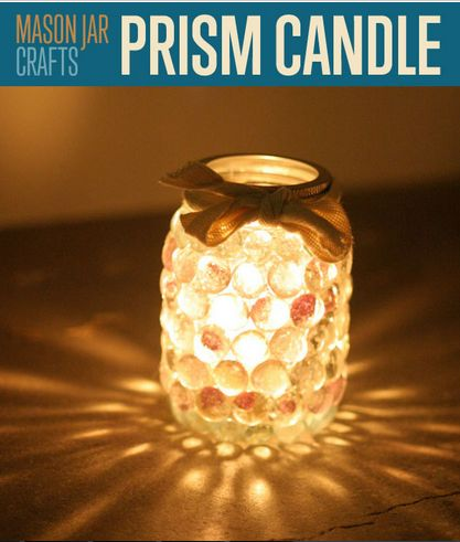 Make this beautiful prism candle. It's easier then you think and looks so beautiful!