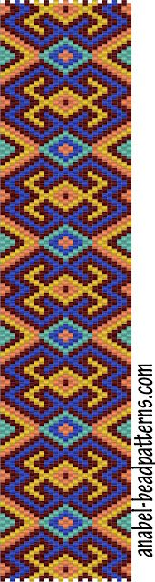 A ton of free peyote bracelet patterns. Beautiful use of color.