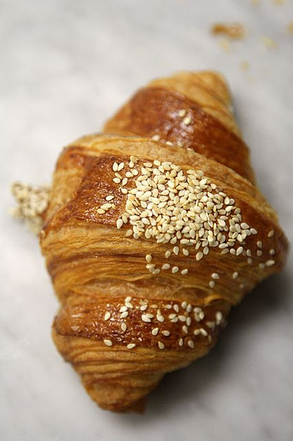 Lebanese Breakfast (Za'atar Croissant). I need to get back to my Lebanese roots and try this!