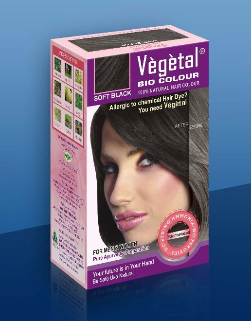 Buy Vegetal Bio Hair Colour (Soft Black) Online at myGREENkart.com