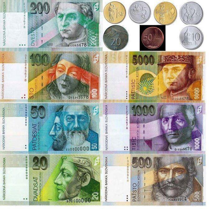 old currency - Slovak crowns - slovenske koruny