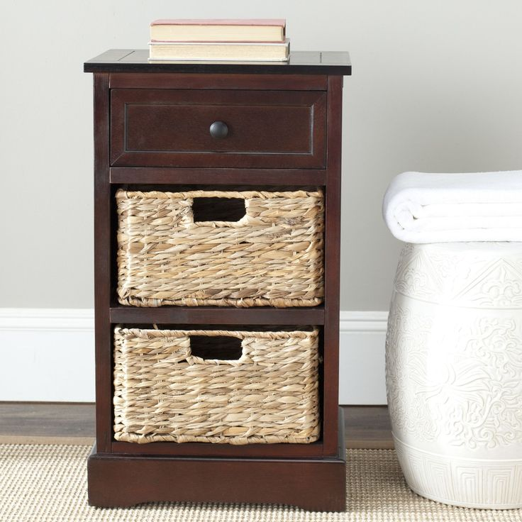 storage console table with baskets lego ikea modern coffee tables drawers end