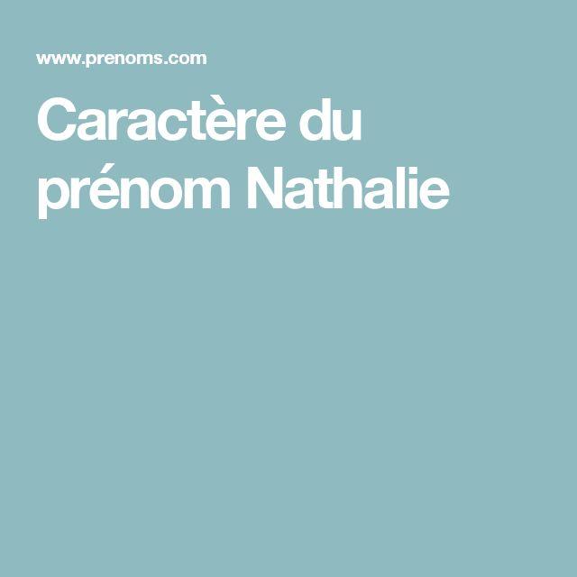 Caractère du prénom Nathalie