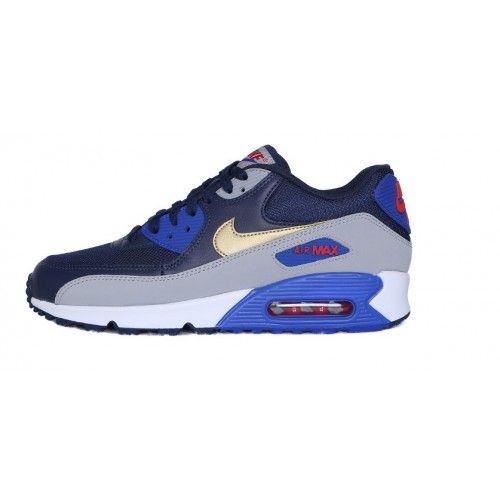 damen nike air max 90 leather iron/rote bronzine-sail