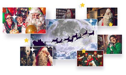 Create a free or premium video message using one of our 7 magic-dusted videos featuring Santa and his elves all the way from the North Pole!