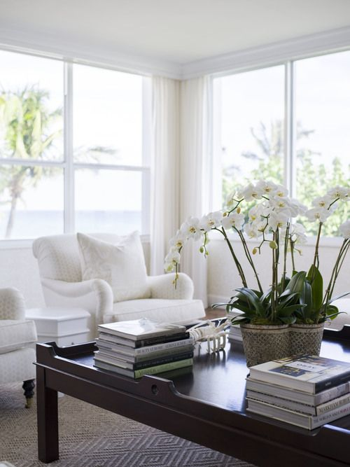 White furniture in living room