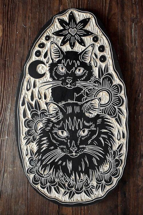 deerjerk:  Two Cats. 2014