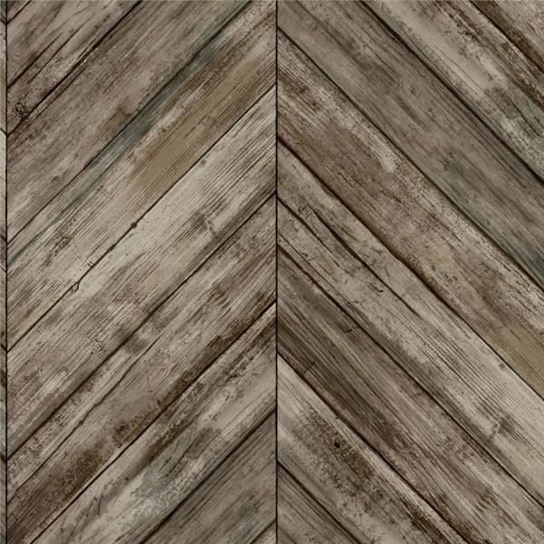 Roommates Herringbone Wood Boards Brown Vinyl Peelable Roll Covers 28 18 Sq Ft Rmk11455wp The Home Depot Herringbone Wood Peel And Stick Wallpaper Wood Wallpaper