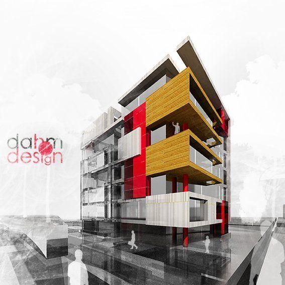 propuesta arquitectónica edificio multifamiliar - diseño y visualización D H