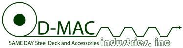 D-Mac offers quick shipment of corrugated steel for roofs, floors, bridges and storage racks. Personal service by knowledgeable personnel is the basis of D-Mac's success.