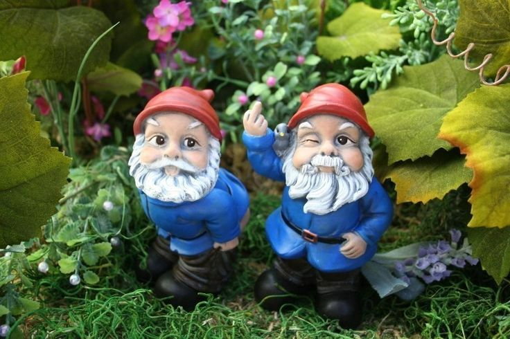 Funny Garden Gnomes: Garden Gnome Flipping The Bird Concrete Rude Gnome Statues