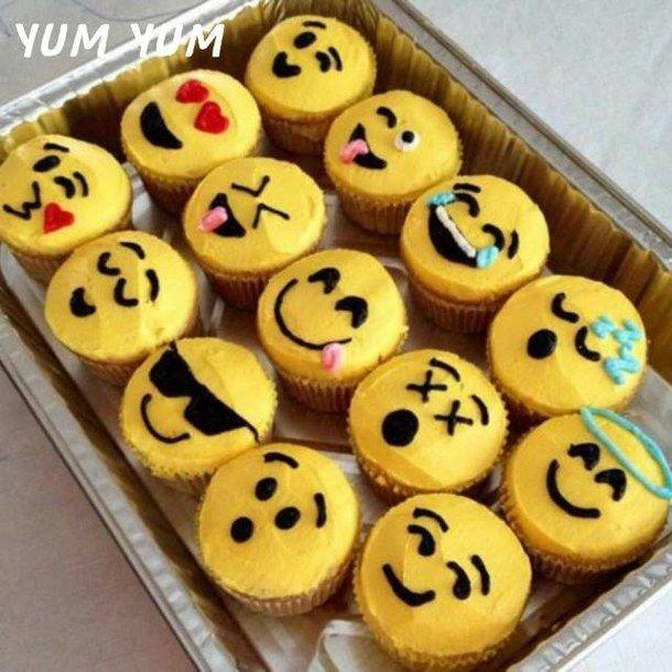 cupcakes, emoji, yummy