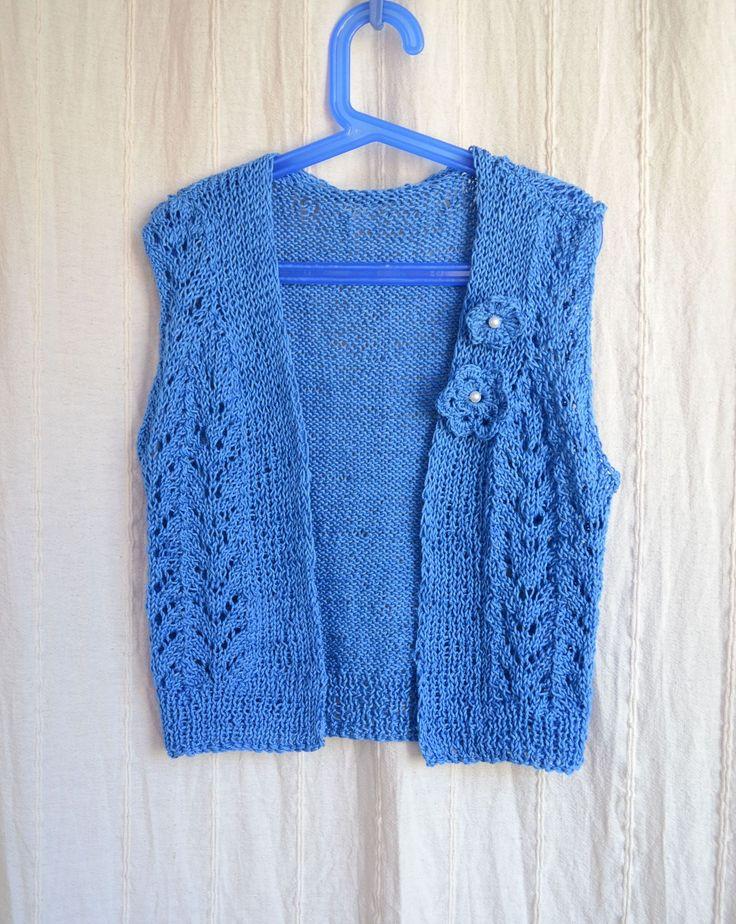Vesta tricotata manual (80 LEI la giulia.stroe.breslo.ro)