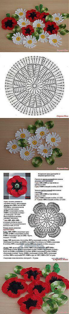 "Цветы ""Ромашки и маки"": Дневник группы ""Вязание"" - Страна Мам [] #<br/> # #Flower #Chart,<br/> # #Flower #Crochet,<br/> # #Poppies,<br/> # #Diaries,<br/> # #Country,<br/> # #Group,<br/> # #Spring,<br/> # #Charts,<br/> # #Crochet #Patterns<br/>"