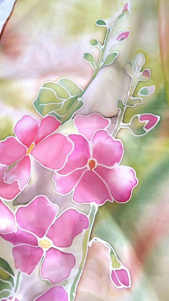 Foulard Soie Carré - Floraison Jardin De Printemps Par Vida Vida 8y34p0zR
