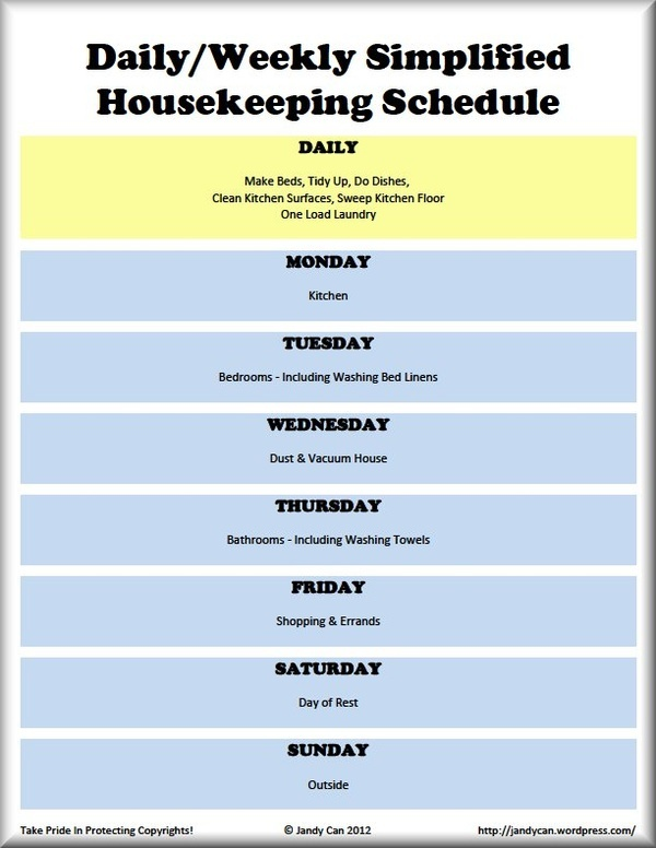 18 best Cleaning schedules images on Pinterest Cleaning tips - monday to sunday schedule template