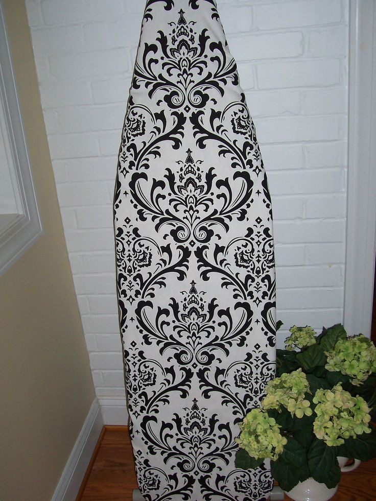 Custom Ironing Board Cover Traditions Black White by HomeLush, $32.99