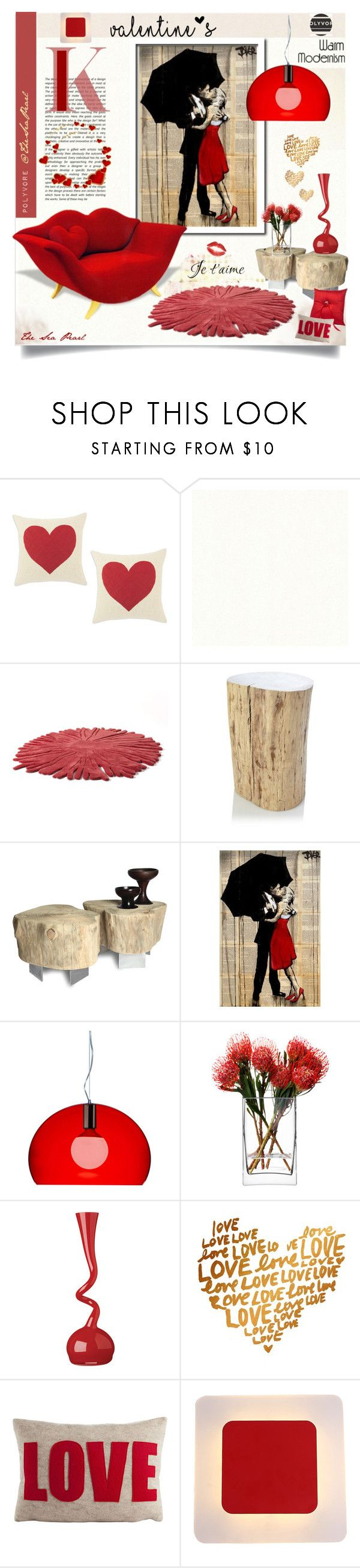 """""""Pls. READ👇 :Valentine Love Story♡"""" by theseapearl ❤ liked on Polyvore featuring interior, interiors, interior design, home, home decor, interior decorating, Nodus, French Connection, Kartell and LSA International"""