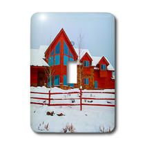 3dRose - Jos Fauxtographee Home - A beautiful, large cabin in the mountains of Pine Valley - Light Switch Covers