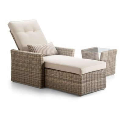 Patios are always great for soaking up the sun, reading or relaxing. A summer-inspired adjustable lounger.