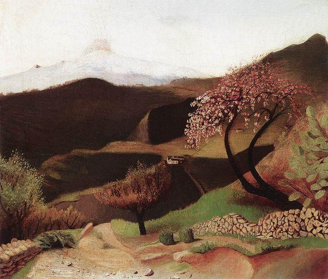 Blossoming Almonds: Landscape in Italy, 1902, Tivadar Kosztka Csontvary.