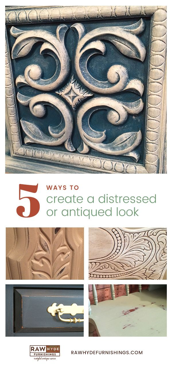 Distressing Painted Furniture | How To Distress Chalk Painted Furniture | Chalk Paint | RAWHyde Furnishings