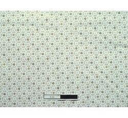 Bavlněné látky - bavlněná látka 304 béžové kytičky