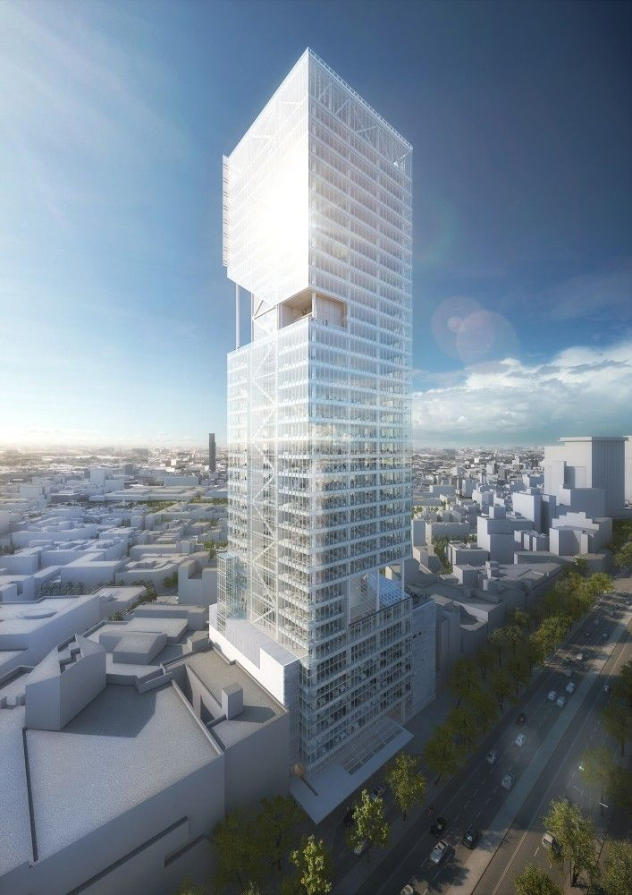 Gallery Of Richard Meier Unveils 180 Meter Tower Development In Mexico 9 Cool Architecturerichard Meierarchitect Designmexico