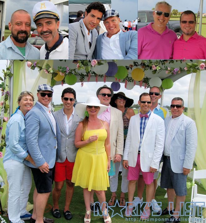 The Gay Polo Tournament at The International Polo Club in Wellington, FL takes place on the 2nd Saturday in April. This festival brings out the creativity and design skills of many talented people through tent decoration, themed outfits and fashion.  http://www.jumponmarkslist.com/us/fl/pbi/images/mp/gay_polo_tournament/2013/041313_1.php