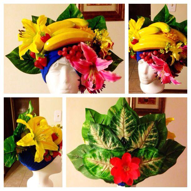 Chiquita banana headdress, Carmen Miranda hat