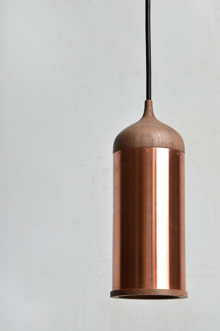 Copper lamp by Steven Banken   ELLE Decoration NL