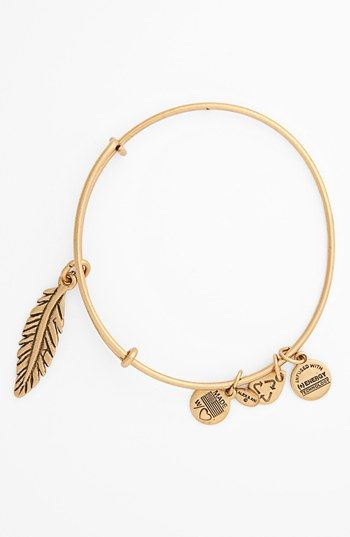 SIXTH MOST WANTED Stackable Alex and Ani 'Feather' Expandable Wire Bangle available at #Nordstrom   $28