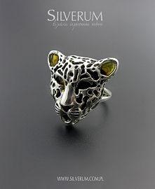 Zobacz zdjęcie srebrny pierścionek - gepard