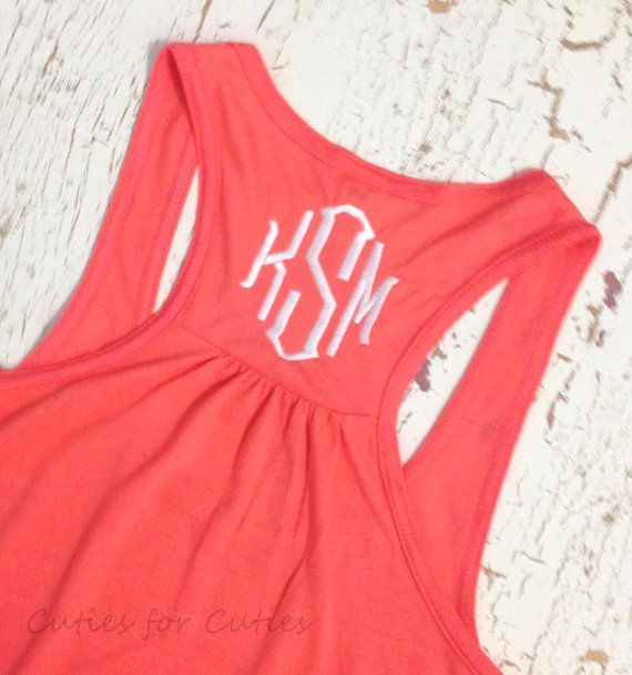 Monogrammed tank top from etsy