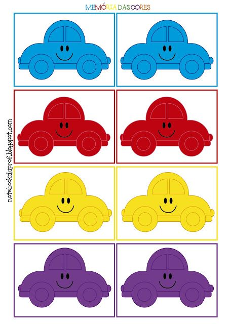 Notebook da Profª: Memória das cores