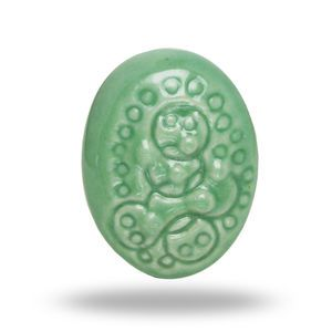 Ceramic Retro Oval Door Knob In Light Green - home sale