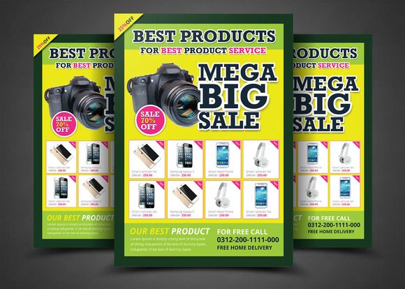 Product Promotion Print Templates by AfzaalGraphics on Creative Market