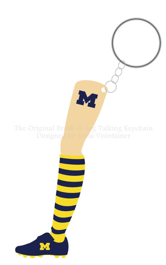 One version of The University of Michigan Fight Song Leg.
