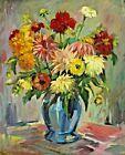 Paul GÖTZ – RÄCKNITZ 1873 – 1952 – Stillleben mit Blumen #Antiquität