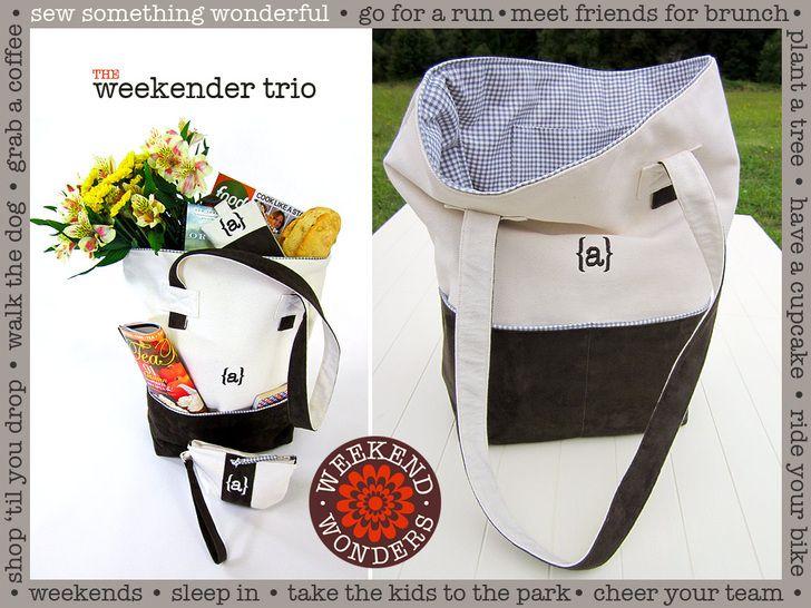 Stylish Monogrammed Weekender Tote: Weekend Wonders Returns with Fabric.com   Sew4Home
