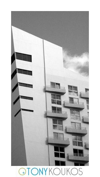 Black White Art Deco Miami South Beach Hotel Angles