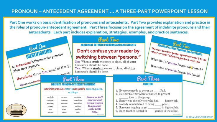 27 Best Images About Pronoun Antecedent Agreement On
