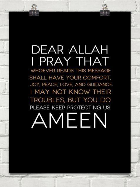 Ameen.