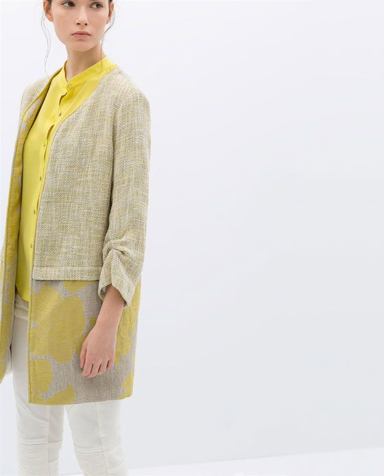 ZARA - NEW THIS WEEK - COMBINATION COUNTRY-STYLE COAT
